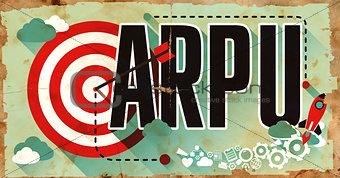 ARPU Word on Grunge Poster.