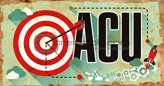 ACU Word on Grunge Poster.