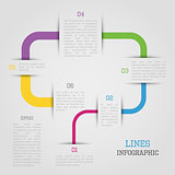 Lines infographic