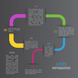 Lines infographic
