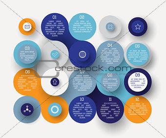 Flat circle infographic