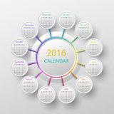 The 2016 calendar