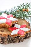 Festive gingerbread.