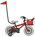 Red child bike