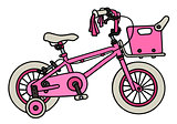 Pink child bike