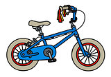 Blue child bike