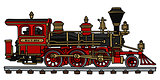 Classic american steam locomotive