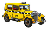 Vintage taxi