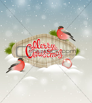 Background with two bullfinch