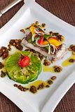 Cod fillet and vegetable