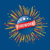 vector logo for fireworks