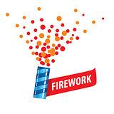 vector logo for fireworks