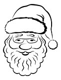 Santa Claus Face, Pictogram