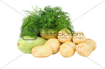 Potatoes dill squash