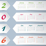 New calendar with white arrows for 2016