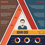 Modern triangle shape cv resume template