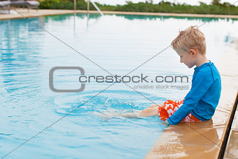 boy in the pool