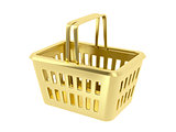 Gold shopping basket