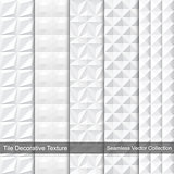 White texture, vector collection.
