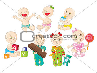A set of happy babies