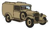 Vintage military car