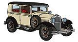 Vintage cream car