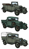 Vintage military cars