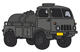 Old military tank truck