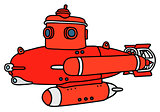 Red small submarine