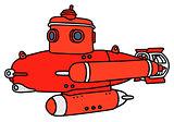 Red small submarine
