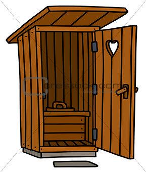 Old wooden latrine