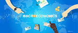 macroeconomic macro economy concept business market financial world