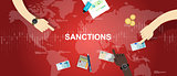 sanctions economy financial dispute illustration background graphic map world