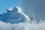 Winter mountain landscape (Austria, Tiroler Alpen).