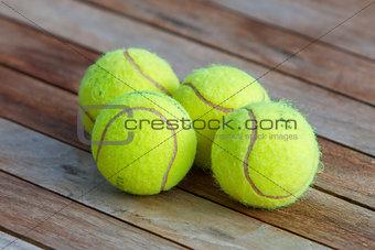 Four tennis balls