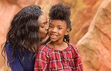 Loving Mother Kiss Child