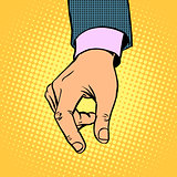 take contribution gesture hand business concept