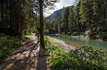 Braies Lake path