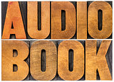 audio book word abstract