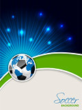 Abstract soccer brochure with bursting map ball