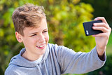 Teenager Teen Boy Male Child Taking Selfie