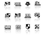 set of computer service icons