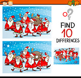 christmas differences task for kids