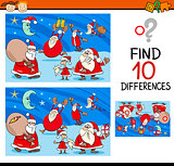 differences task with santa