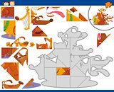 cartoon dogs jigsaw puzzle task
