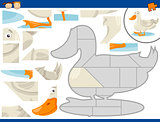 cartoon duck jigsaw puzzle task