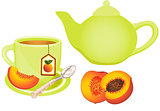 Peach Tea Set