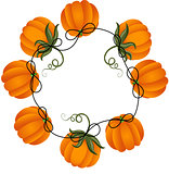 Circular frame with pumpkins