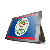 Tablet with Belize flag