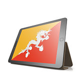 Tablet with Bhutan flag